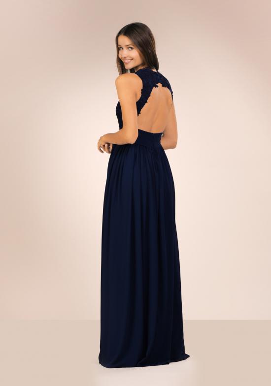 Abendkleid aus Chiffon Dunkelblau Sonya